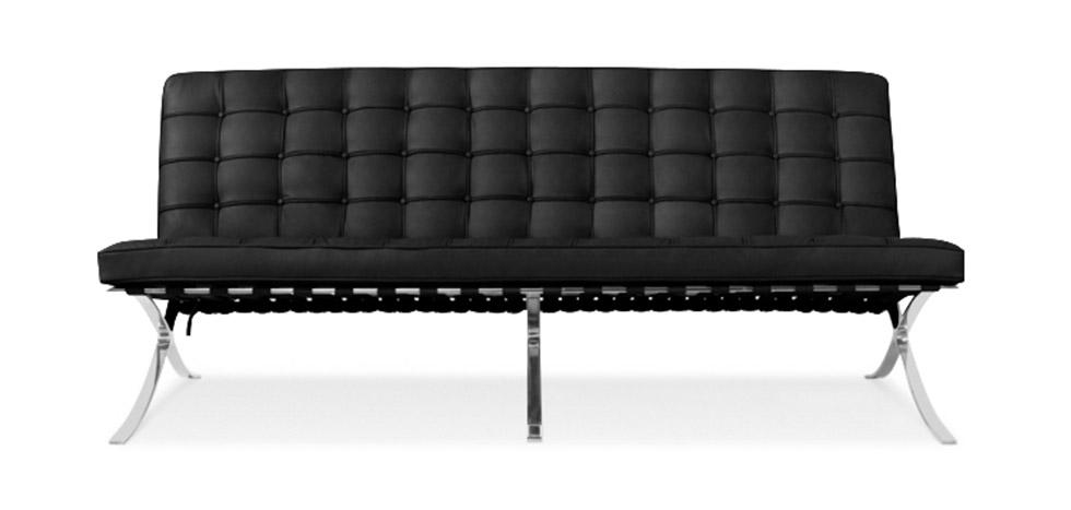 Barcelona Sofa   Ludwig Style Mies Van Der Rohe (3 Seats)   Premium Leather