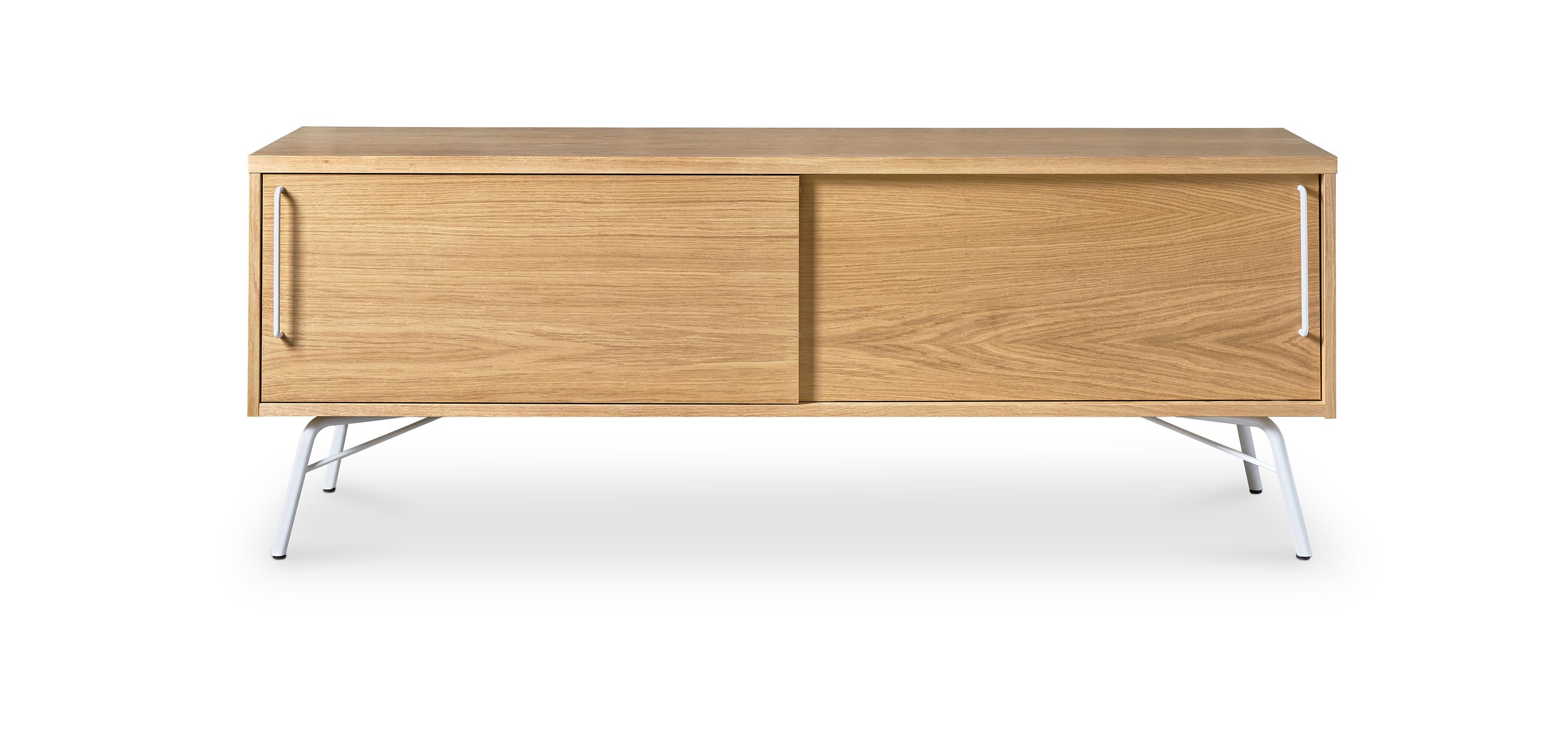 Scandinavian style natural wood Tv cabinet