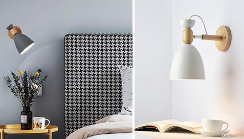 Jorson Scandinavian Style Wall Lamp Metal And Wood