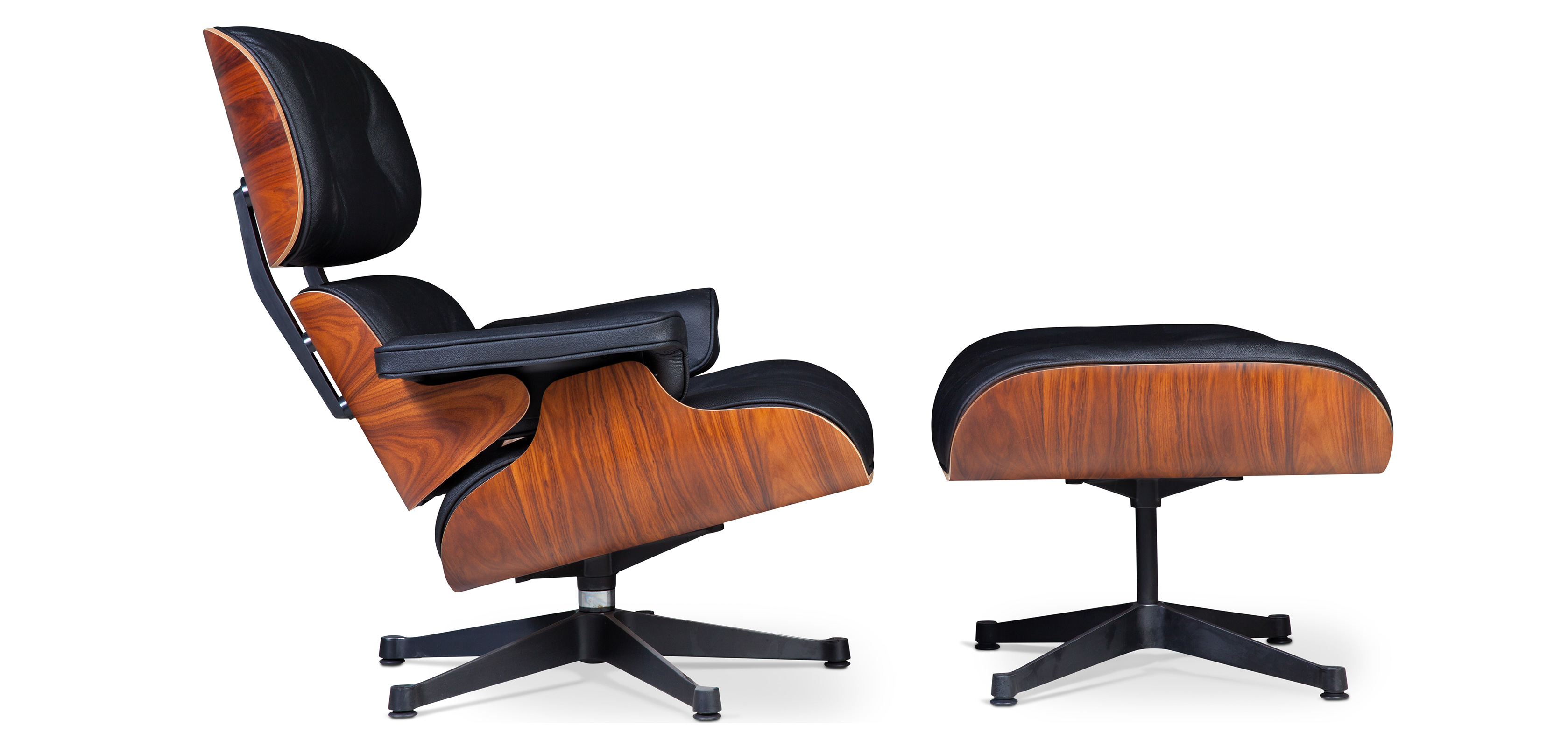 lounge chair ottoman charles eames premium leather rosewood