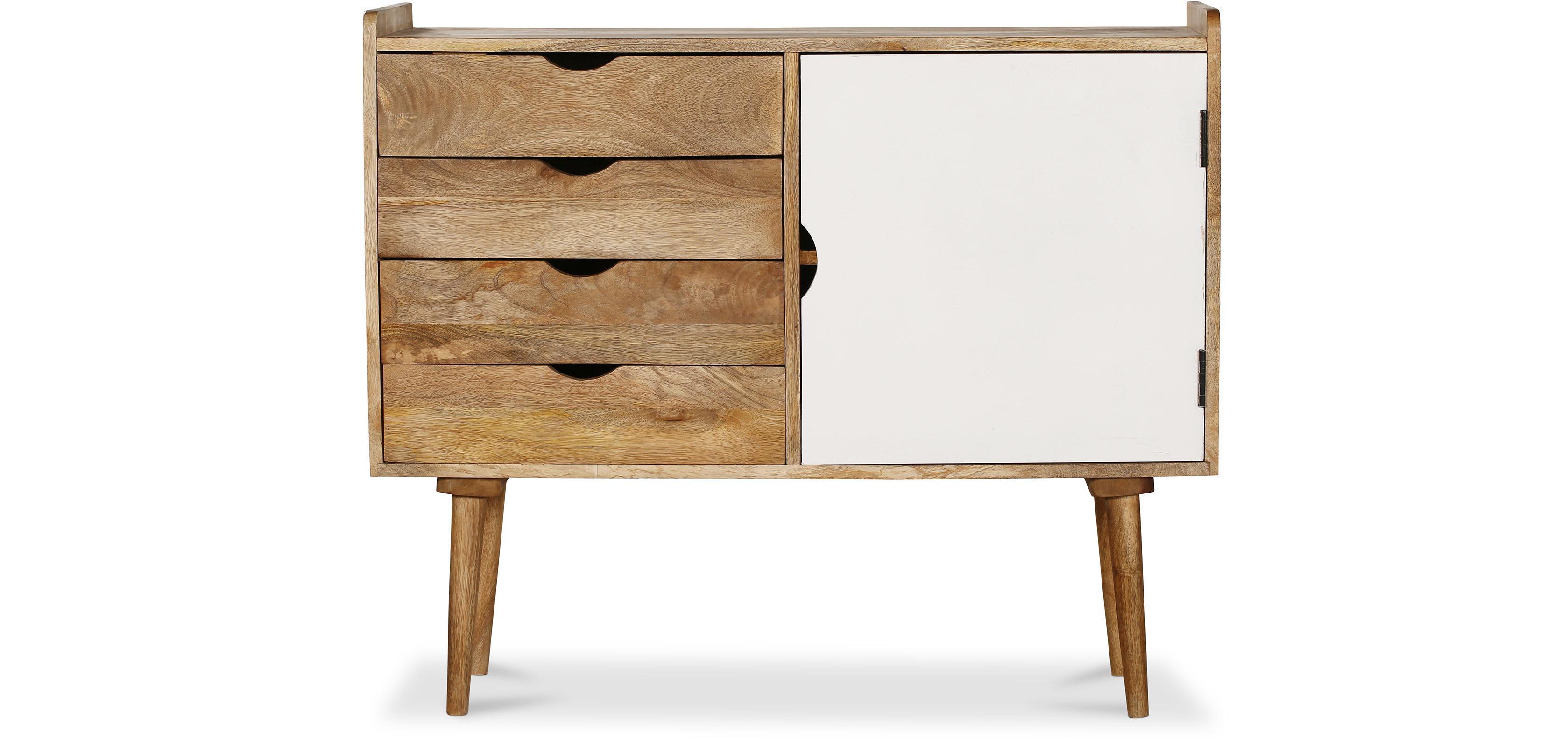 Buffet vintage industriel en bois blanc