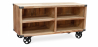 Buy Industrial style TV cabinet - Kanda Natural wood 59071 in the United Kingdom