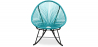 Buy Acapulco Rocking Chair - Black legs  Turquoise 59411 - prices