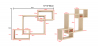 Buy Scandinavian style wall shelf 3 boxes - Wood Natural wood 59645 home delivery