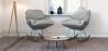 Buy Scandinavian Design Padded Rocking Armchair Grey 59895 in the United Kingdom