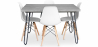 Buy Grey Hairpin 120x90 dining table + 4 Deswick chair  Black 59918 - prices