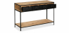 Buy Vintage Industrial Console with Drawers - Wood Black 27781 home delivery