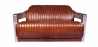 Buy Design Sofa Churchill Lounge 2 places Leather & Stainless Steel Vintage brown 48369 - in the UK