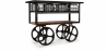 Buy Industrial Style Trolley Table Black 58254 - prices