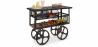 Buy Industrial Style Trolley Table Black 58254 with a guarantee