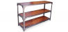 Buy Industrial 3 shelf bookcase Natural wood 58345 - prices