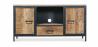 Buy Vintage industrial metal Tv cabinet Natural wood 58467 - in the UK
