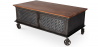 Buy Industrial style Coffee table with wheels Steel 58576 - prices