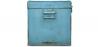 Buy Industrial vintage design locking trunk Blue 58326 in the United Kingdom