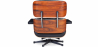 Buy Long Chair & Ottoman Premium Leather - Rosewood - Black legs Black 25338 in the United Kingdom