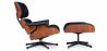 Buy Long Chair & Ottoman Premium Leather - Rosewood - Black legs Black 25338 at Privatefloor