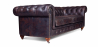Buy Chesterfield Sofa - 2 seats - Premium Leather Vintage brown 36722 - prices