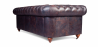 Buy Chesterfield Sofa - 2 seats - Premium Leather Vintage brown 36722 in the United Kingdom