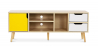 Buy TV unit sideboard Aren - Wood Yellow 59660 - in the UK