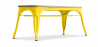 Buy Style Tolix Bench - Light Wood Yellow 59873 - in the UK