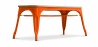 Buy Style Tolix Bench - Light Wood Orange 59873 in the United Kingdom