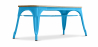 Buy Style Tolix Bench - Light Wood Turquoise 59873 home delivery
