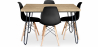 Buy 120x90 Hairpin dining table + 4 Deswick chair Black 59913 - prices