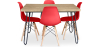 Buy 120x90 Hairpin dining table + 4 Deswick chair Red 59913 at Privatefloor