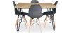 Buy 120x90 Hairpin dining table + 4 Deswick chair Dark grey 59913 home delivery