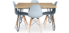 Buy 120x90 Hairpin dining table + 4 Deswick chair Light grey 59913 with a guarantee
