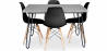 Buy Grey Hairpin 120x90 dining table + 4 Deswick chair  Black 59918 - in the UK