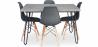 Buy Grey Hairpin 120x90 dining table + 4 Deswick chair  Dark grey 59918 at Privatefloor