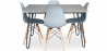 Buy Grey Hairpin 120x90 dining table + 4 Deswick chair  Light grey 59918 in the United Kingdom