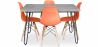 Buy Grey Hairpin 120x90 dining table + 4 Deswick chair  Orange 59918 home delivery
