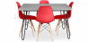 Buy Grey Hairpin 120x90 dining table + 4 Deswick chair  Red 59918 with a guarantee