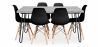 Buy Grey Hairpin 150x90 dining table + 6 Deswick chair Black 59919 - in the UK