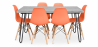 Buy Grey Hairpin 150x90 dining table + 6 Deswick chair Orange 59919 in the United Kingdom