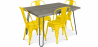 Buy Grey Hairpin 120x90 Dining Table + 4 Tolix Pauchard Style Chair Yellow 59923 in the United Kingdom