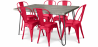 Buy Grey Hairpin 150x90 Dining Table + 6 Tolix Pauchard Style Chair Red 59924 in the United Kingdom