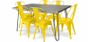 Buy Grey Hairpin 150x90 Dining Table + 6 Tolix Pauchard Style Chair Yellow 59924 home delivery