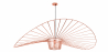 Buy Vertical Hanging Lamp 140cm - Metal Rose Gold 59884 in the United Kingdom