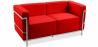 Buy Design Sofa Kart3 (2 seats)  - Premium Leather Red 13236 - in the UK