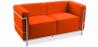 Buy Design Sofa Kart3 (2 seats)  - Premium Leather Orange 13236 - prices