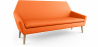 Buy Scandinavian design sofa 2 seater fabric Orange 55627 with a guarantee