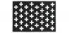 Buy Crosses scandinavian carpet Black / White 58455 at Privatefloor