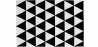 Buy Scandinavian Design Triangles Carpet White / Black 58452 - in the UK