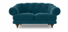 Buy 2 seater Chesterfield style sofa - Nolan Dark blue 58682 in the United Kingdom