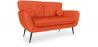 Buy Scandinavian style 2 seater sofa - Juls Orange 58685 in the United Kingdom