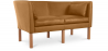 Buy Scandinavian design Sofa 2214 (2 seats) - Børge Mogensen style - Premium Leather Light brown 13919 at Privatefloor