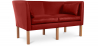 Buy Scandinavian design Sofa 2214 (2 seats) - Børge Mogensen style - Premium Leather Cognac 13919 in the United Kingdom